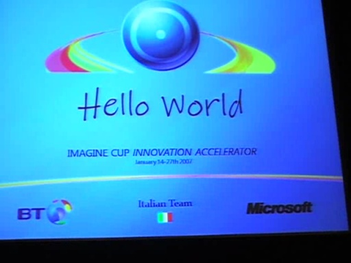 Imagine Cup Innovation Accelerator: Team Italy - Hello World