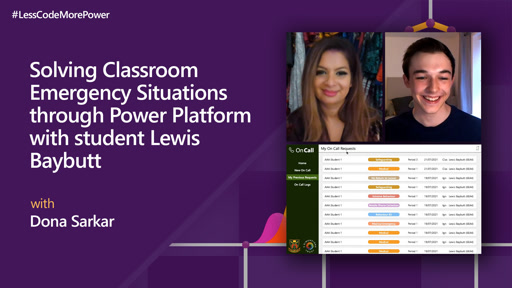 Solving Classroom Emergency Situations through Power Platform with student Lewis Baybutt