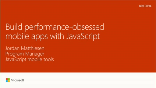 Build performance-obsessed mobile apps with JavaScript
