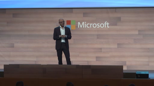 Satya Nadella, Microsoft CEO keynote address.