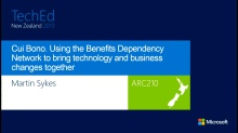 Cui Bono. Using the Benefits Dependency Network to bring technology and business changes together