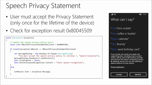 Universal Windows App Development with Cortana and the Speech SDK: (04) Speech Recognition in Apps