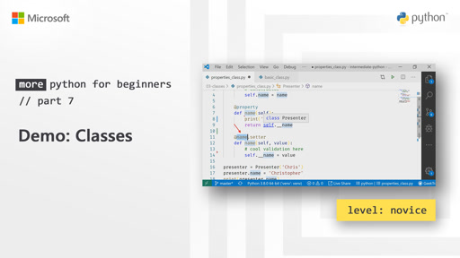 Demo: Classes | More Python for Beginners [7 of 20]