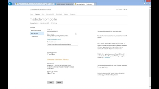 Tutorial - Windows Azure Mobile Services - Teil 4/5 Authentifizierung