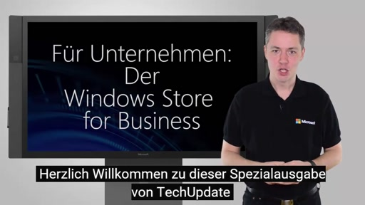Microsoft TechUpdate - Windows Store for Business (Adv.)