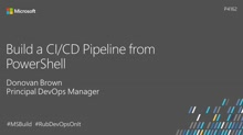 Build a CI/CD pipeline from PowerShell