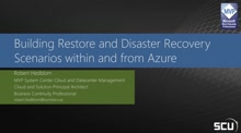 Building Restore- and Disaster Recovery Scenario within and from Azure