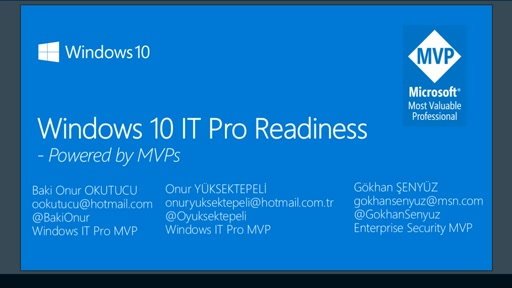 Windows 10 IT Pro Readiness [Turkey]