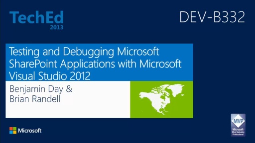 Testing and Debugging Microsoft SharePoint Applications with Microsoft Visual Studio 2012