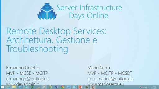 HV01 - Remote Desktop Services: Architettura, Gestione e Troubleshooting