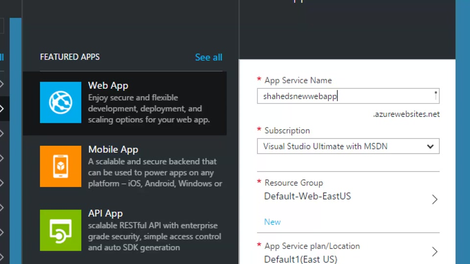 Deploy Your Web Site or Web App on Azure