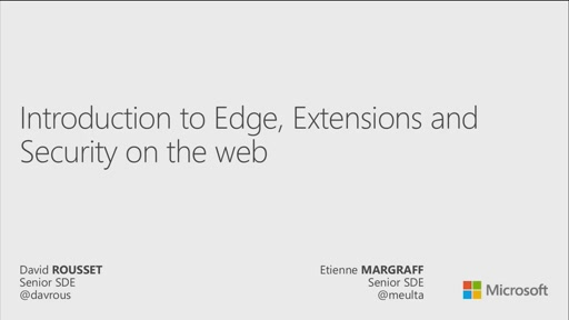Introduction to Microsoft Edge, extensions and security on the web