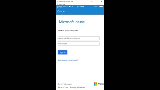 End User Experience of Enrollment of iOS Device in Intune