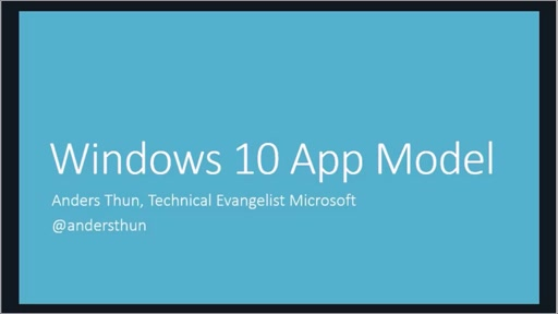 Windows 10 App model