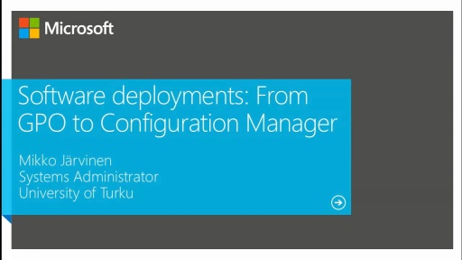 Software Deployments: From GPO–Based to Configuration Manager