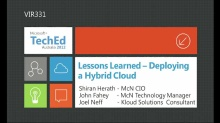 Lessons Learned: Deploying a Hybrid Cloud