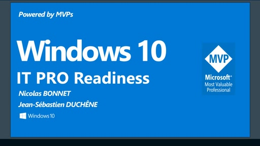 Windows 10 IT Pro Readiness [France]