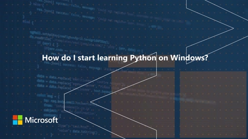 How do I start learning Python on Windows? One Dev Question