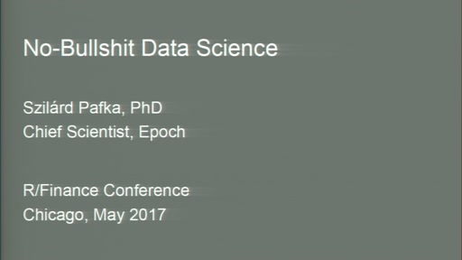 No-Bullshit Data Science
