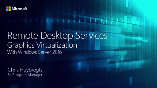 Remote Desktop Services graphics performance in Windows Server 2016