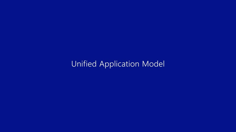 Unified application model