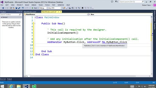 Visual Basic Fundamentals for Absolute Beginners: (24) Understanding Event Driven Programming
