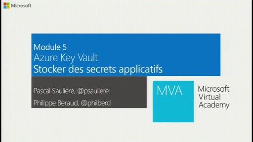 Stocker des secrets applicatifs dans Azure Key Vault