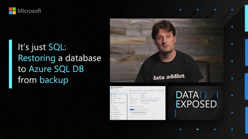 It's just SQL: Restoring a database to Azure SQL DB from backup
