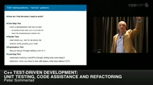 C++ Test-Driven Development: Unit Testing, Coed Assistance and Refractoring