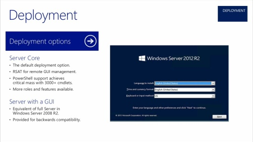 Windows Server 2012 R2 Server Management and Automation: (03) Deployment