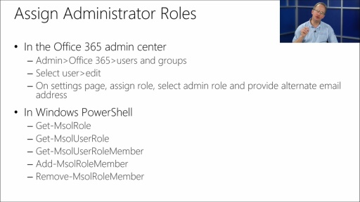 Managing Office 365 Identities and Services: (03) Administering Office 365