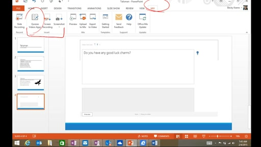 Create a Quiz in Office Mix