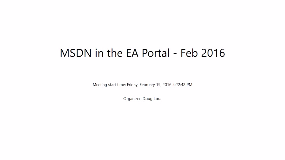 Creating MSDN Dev/Test Subscriptions in the EA Portal