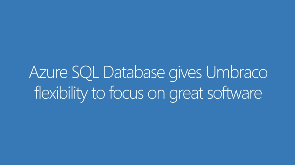 Azure SQL Database Case Study - Umbraco