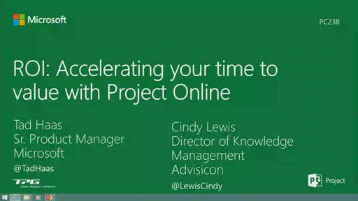 ROI: Accelerating your time to value with Project Online