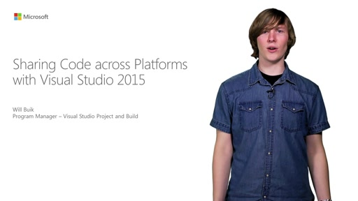 Sharing Code Across Platforms With Visual Studio 2015