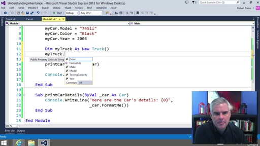 Visual Basic Fundamentals for Absolute Beginners: (17) Working with Classes and Inheritances in the .NET Framework Class Library