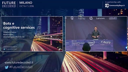 #FutureDecoded 7 ottobre 2016 - Bots e Cognitive Services
