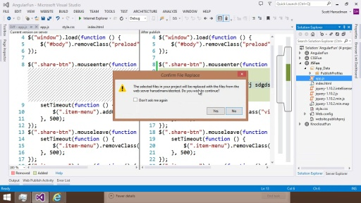 Visual Studio 2013 Web Editor Features - Publishing