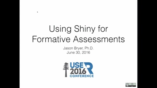 Using Shiny for Formative Assessments