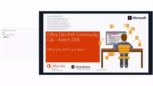 Office 365 Developer Patterns and Practices - March 2016 Community Call