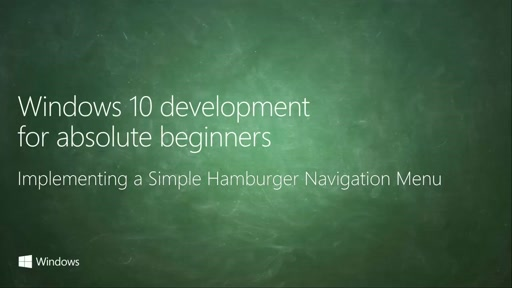 UWP-021 - Implementing a Simple Hamburger Navigation Menu