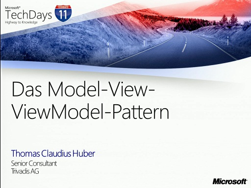 TechDays 11 Basel - Das Model-View-ViewModel-Pattern