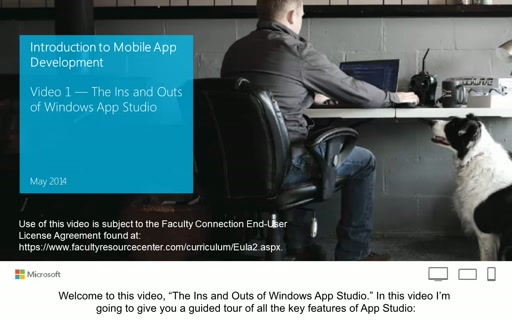 Windows App Studio Walkthrough (with English Captions)
