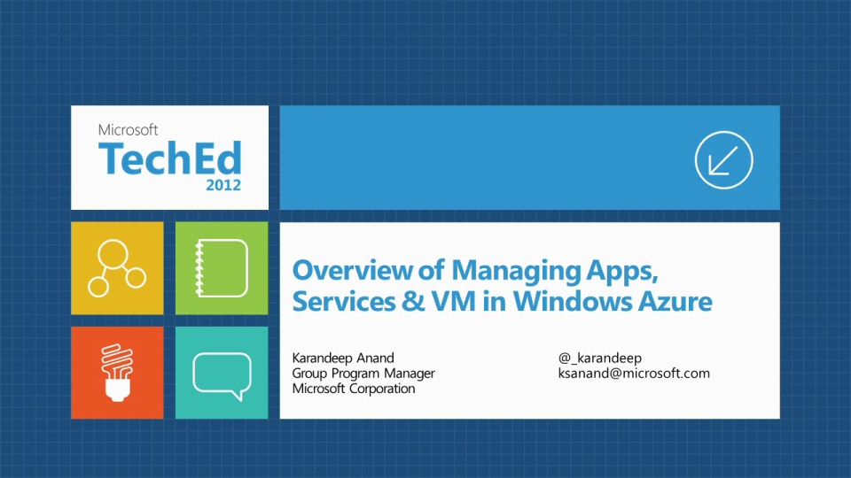 An Overview of Managing Applications, Services, and Virtual Machines in Windows Azure