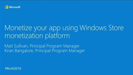 Monetize Your App Using Windows Store Monetization Platform