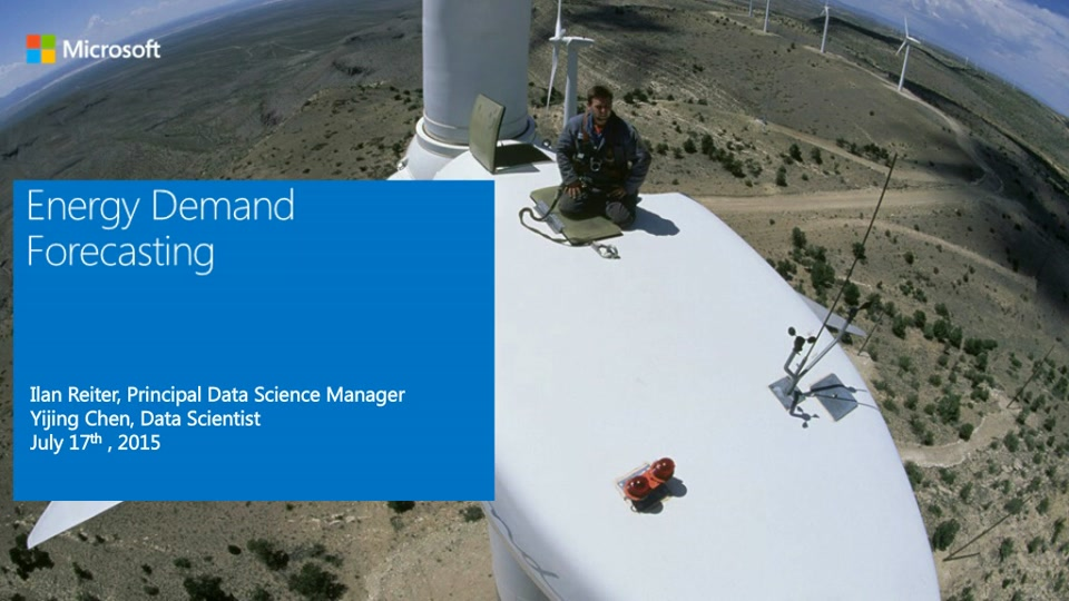 Energy Forecasting in Smart Grids using Cortana Analytics Suite