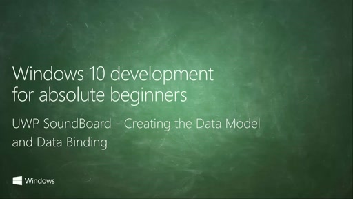UWP-051 - UWP SoundBoard - Creating the Data Model and Data Binding