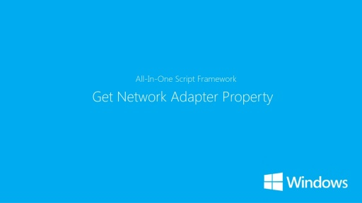 How to get Network Adaptor Properties in Windows 8
