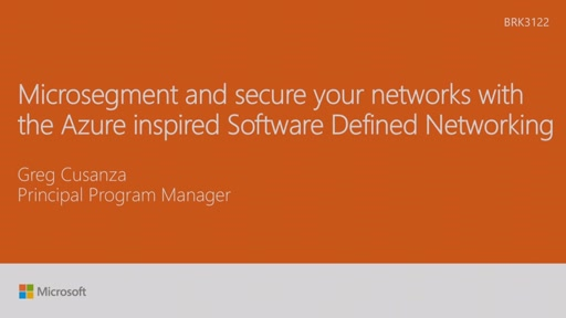 Microsegment and secure your networks with the Azure inspired Software Defined Networking